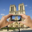 Taking a picture  of Notre Dame — Stock Photo