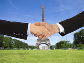 Closing a deal in Paris — Stock Photo