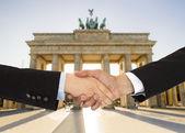 Business men in Berlin — Stock Photo