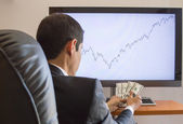 Profits in financial markets — Stock Photo