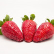 Three fruits strawberries — Stock Photo