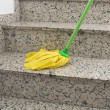 Stock Photo: Yellow mop cleaning