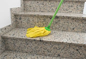 Yellow mop cleaning — Stock Photo