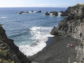 Black beach canary island — Stockfoto