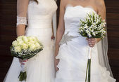 Wedding of a lesbian — Stock Photo
