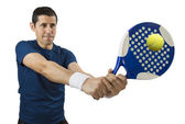 Swatting the ball — Stock Photo