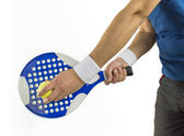 Aim for another great shot with paddle racket — Stock Photo