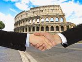 Business men in Rome — Stock Photo