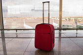 Suitcase ready for travel — Stock Photo