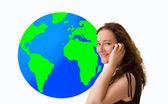 International calls roaming — Stock Photo