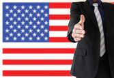 Handshake in USA — Stock Photo