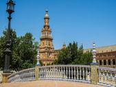 španělsko náměstí v seville — Stock fotografie