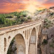 Stock Photo: Vardrailway bridge