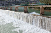 Water flowing from the dam — Stock Photo