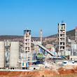 Stock Photo: Concrete mixing plant stack for cement and sand