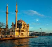 Beautiful view of Ortakoy Mosque — Stock Photo