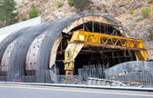 Construction of the tunnel — Stock Photo