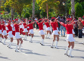 Bulgarian Band marching at Mersin festival — Stock Photo