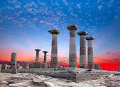Temple of Apollo in Didyma antique city at sunrise — Stock Photo