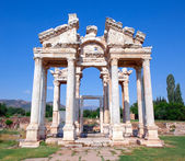 Famous Tetrapylon Gate in Aphrodisias — Stock Photo