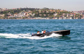 People travelling by boats to see Bosphorus — Stock Photo
