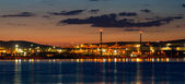Tupras Refinery plant area at evening — Stock Photo