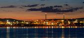 Tupras Refinery plant area at evening — Stock Photo