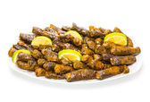 Turkish dolma, grape leaves and rice — Stock Photo