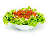 Kisir, Bulgur wheat as a salad prepared with tomato paste, fresh tomatoes, parsley, olive oil. — Stock Photo