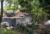 Túmulos rupestres em termessos perto de antalya, turquia — Foto Stock