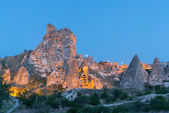 View of small towns in Cappadocia in the evening — Stock Photo
