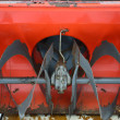 Closeup of snowblower auger — Stock Photo
