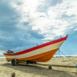 Boat at the beach — Stock Photo