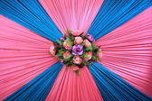 Flower Decoration on wall — Stock Photo