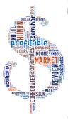 Dollar Signs Word Design — Stock Photo