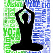 Yoga and health info text cloud - Stock Photo