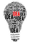 Bulb on IDEA concept — Stockfoto