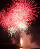 Colorful fireworks. Fireworks are a class of explosive pyrotechnic — Stock Photo