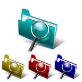 Vector search folder — Stock Vector