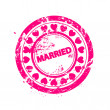 Vector just married stamps - Stock Vector