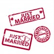 Vector just married stamps — Stock Vector #14515313