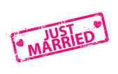 矢量刚刚结婚的邮票 — 图库矢量图片