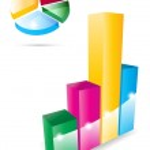 Vector 3d graph icons — Stock Vector