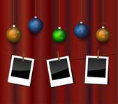 Vector Christmas photo — Stock Vector