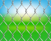 Vector chain fence — Stock Vector