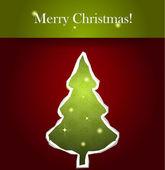 Vector paper Christmas tree — Stock Vector