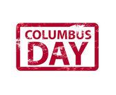 Vector Columbusday grunge stamp — Stock Vector