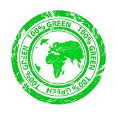 Grunge 绿色矢量邮票 — 图库矢量图片