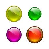 Cercles de vecteur shiiny — Vecteur