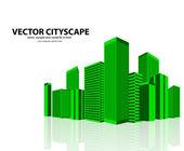 Vektor-stadtansicht — Stockvektor